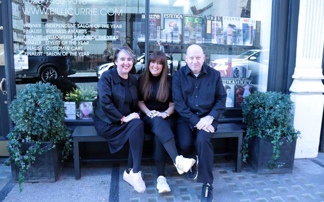 Lesley Jennison who is the Global colour Ambassador for Schwarzkopf joins Billi Currie team